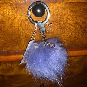 BNWT Kate spade Fur Pom Pom Key Fob